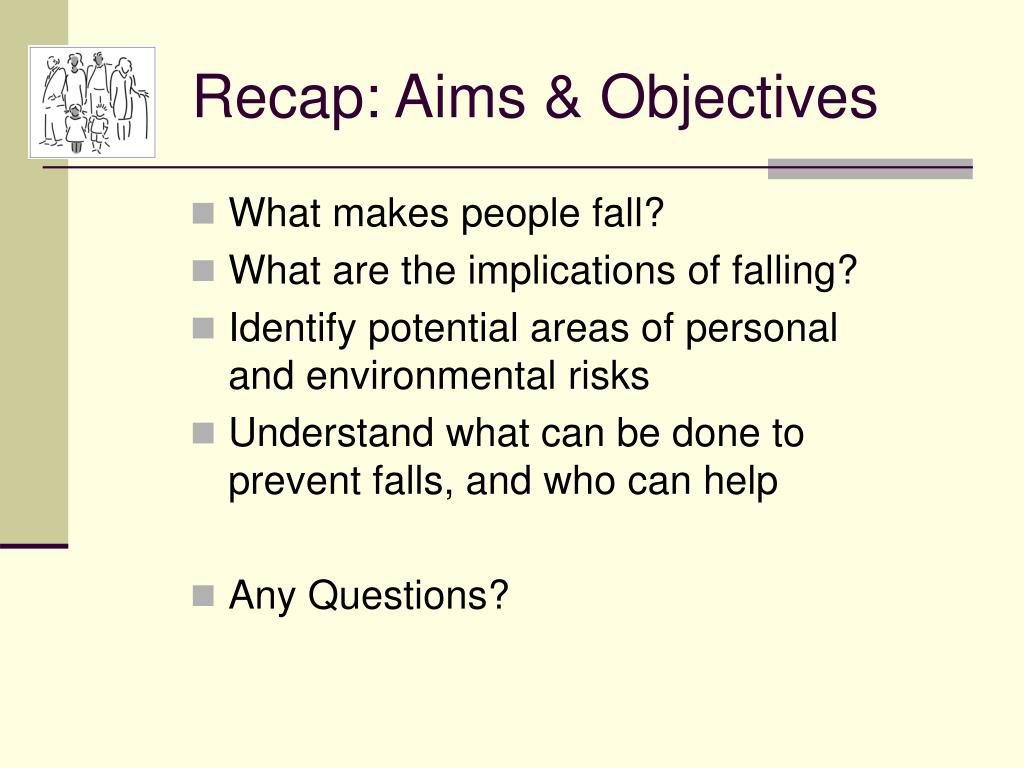 Recap: Aims & Objectives