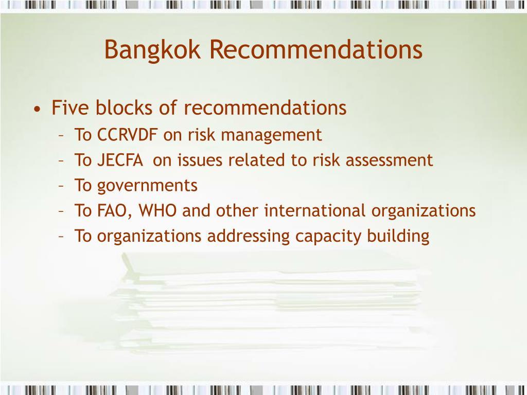 Bangkok Recommendations