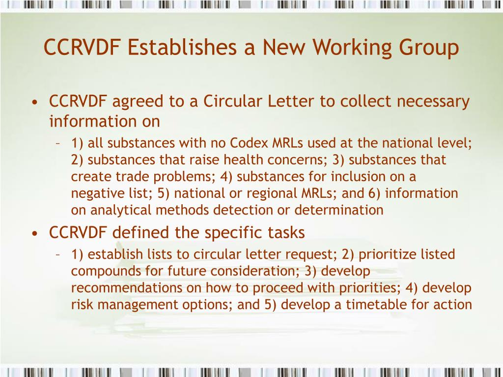 CCRVDF Establishes a New Working Group