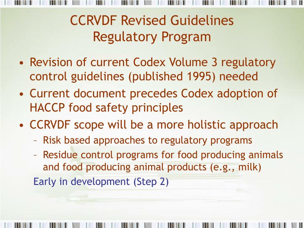 CCRVDF Revised Guidelines