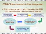 ccrvdf risk assessment risk management