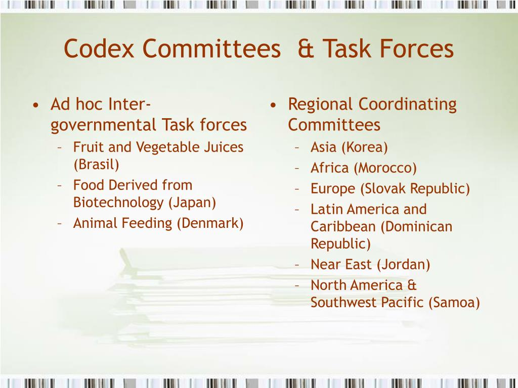 Ad hoc Inter-governmental Task forces