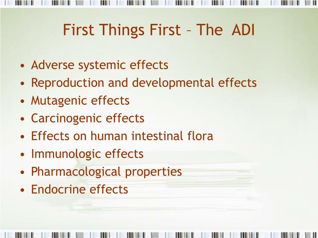 First Things First – The  ADI