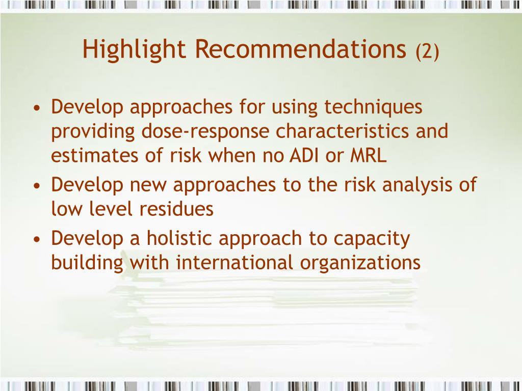 Highlight Recommendations