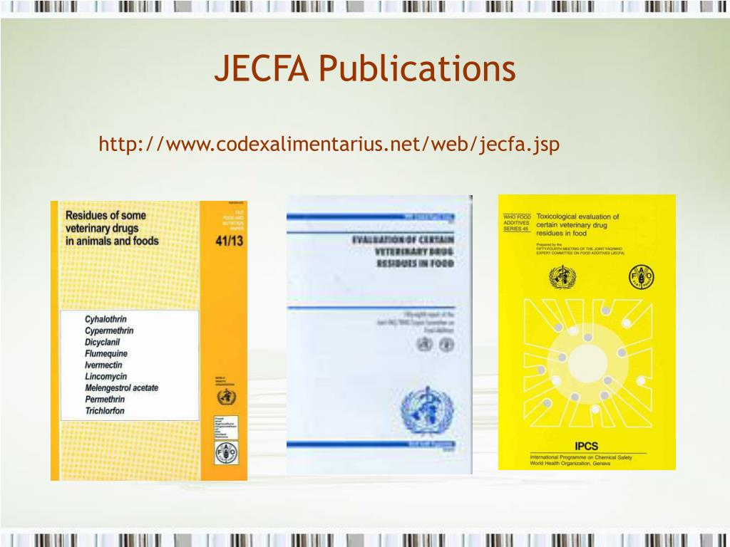 JECFA Publications