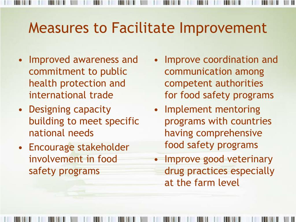 Improved awareness and commitment to public health protection and international trade