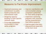 measures to facilitate improvement