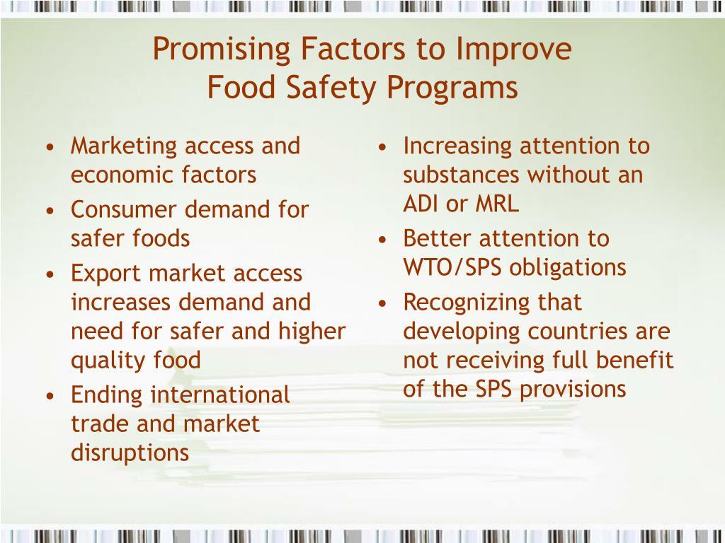 Marketing access and economic factors