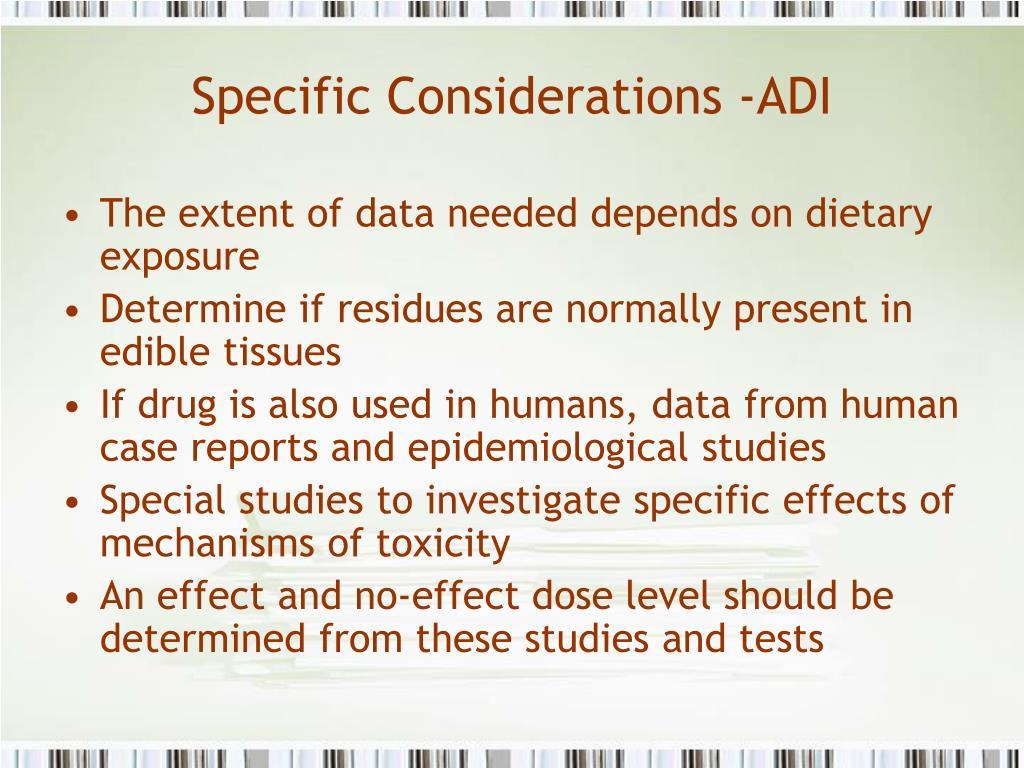 Specific Considerations -ADI