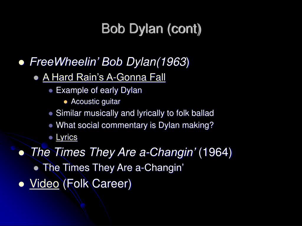 Bob Dylan (cont)