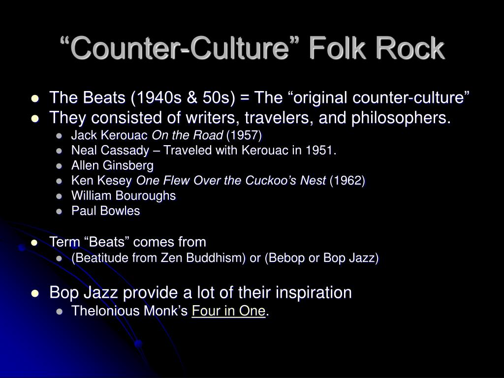 """Counter-Culture"" Folk Rock"