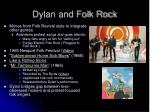dylan and folk rock