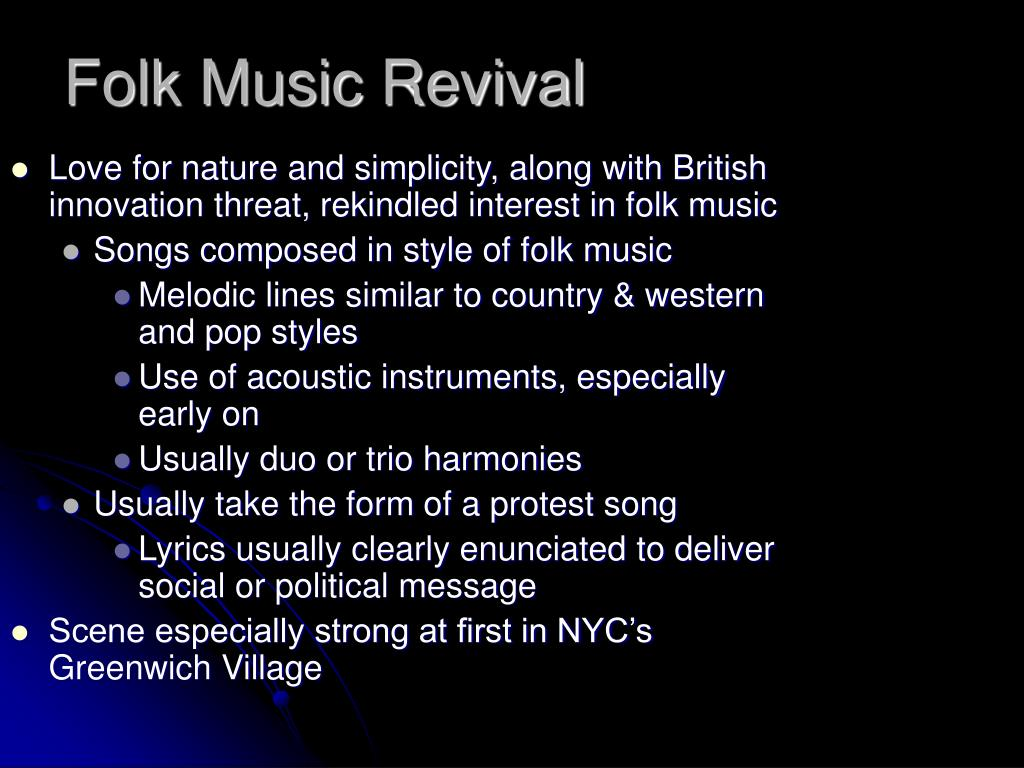 Folk Music Revival