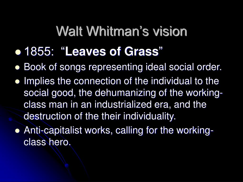 Walt Whitman's vision
