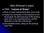 walt whitman s vision