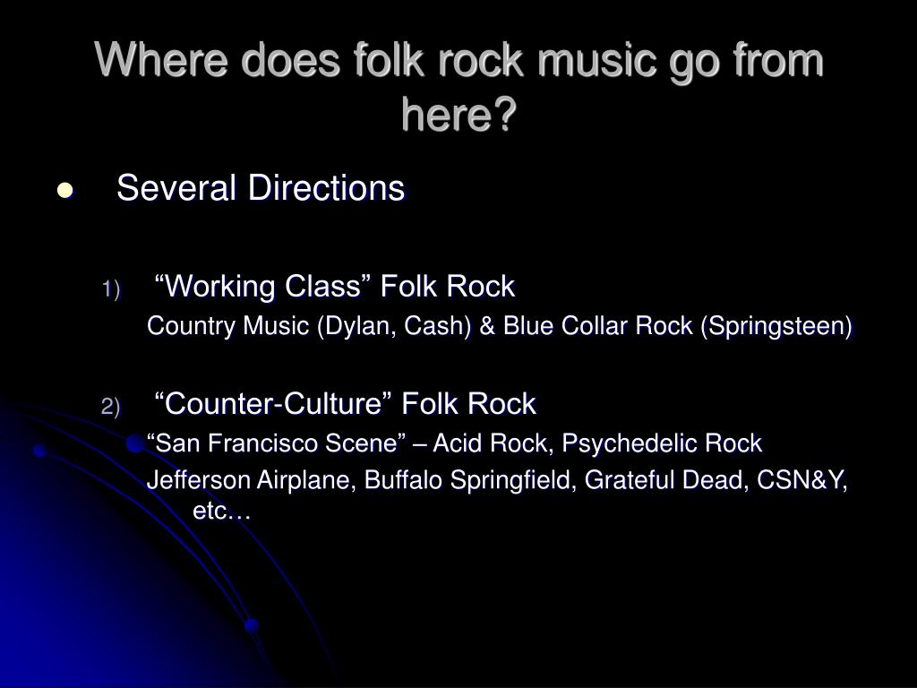 Where does folk rock music go from here?
