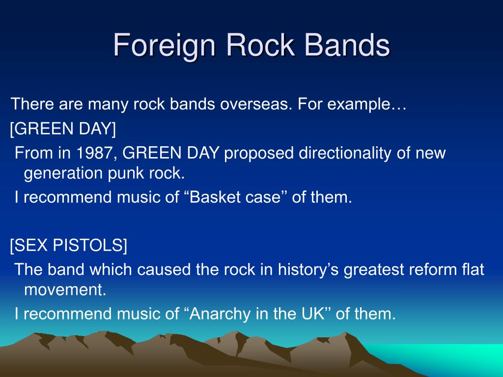 Foreign Rock Bands