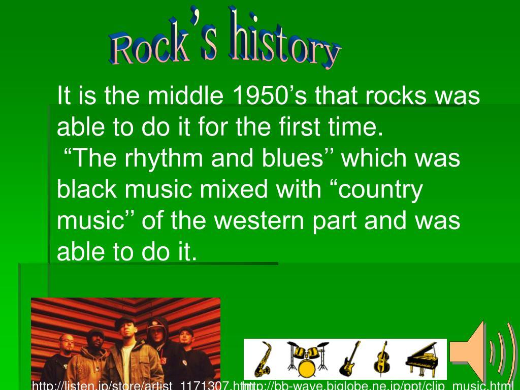 Rock's history