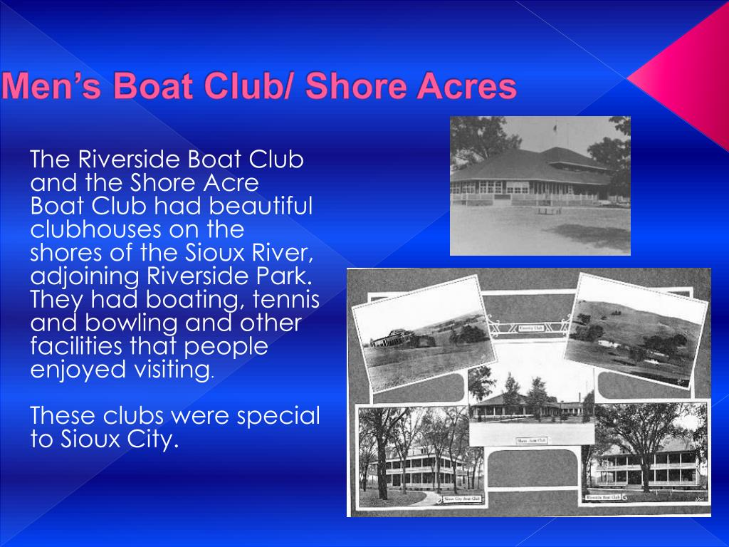 Men's Boat Club/ Shore Acres