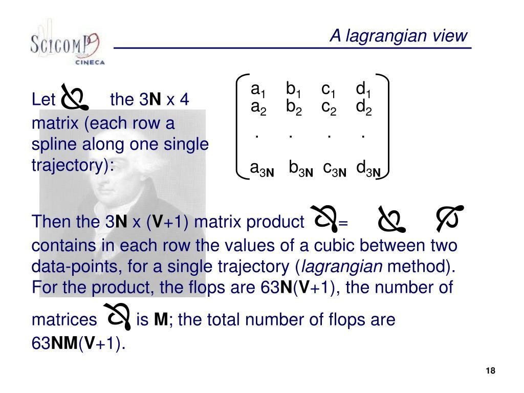 A lagrangian view