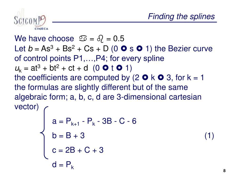 Finding the splines