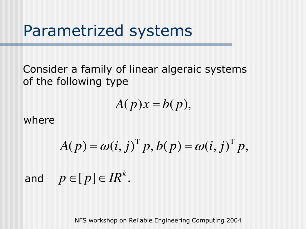 Parametrized systems