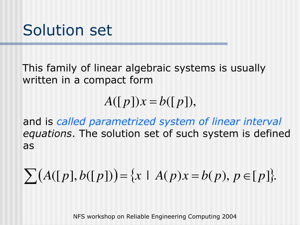 Solution set