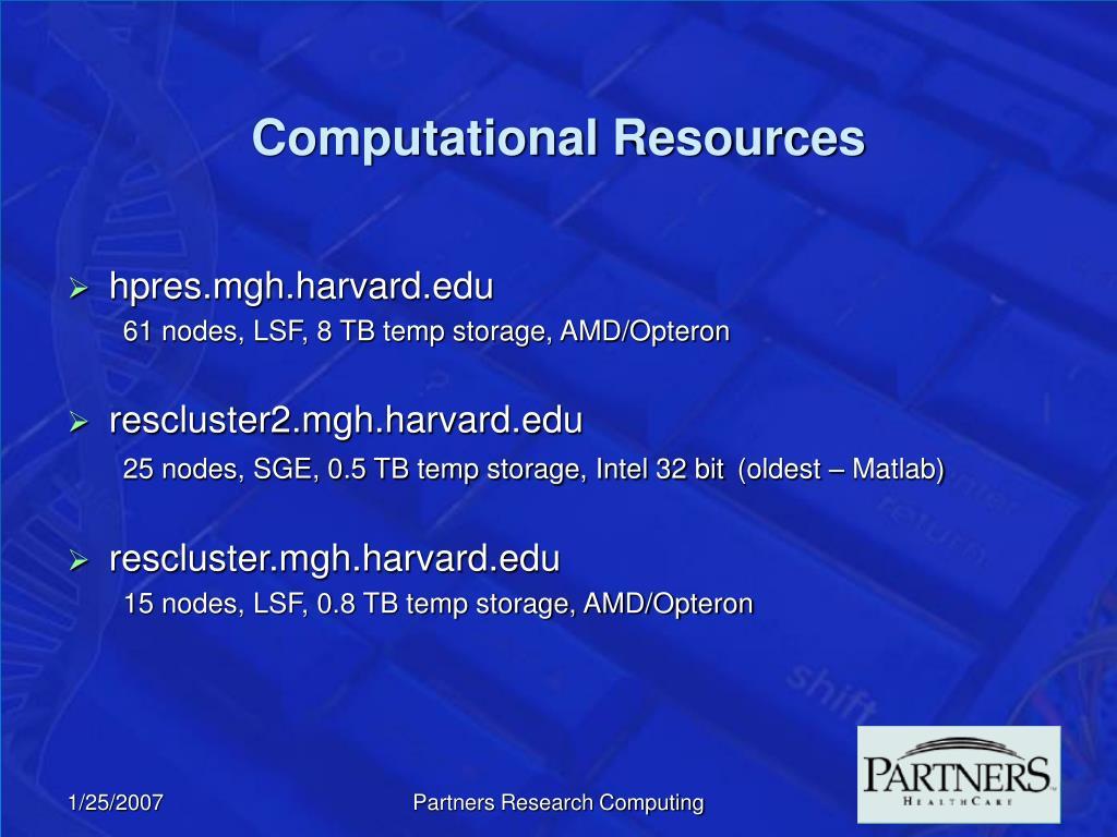 Computational Resources