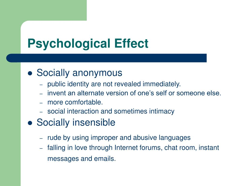 Psychological Effect