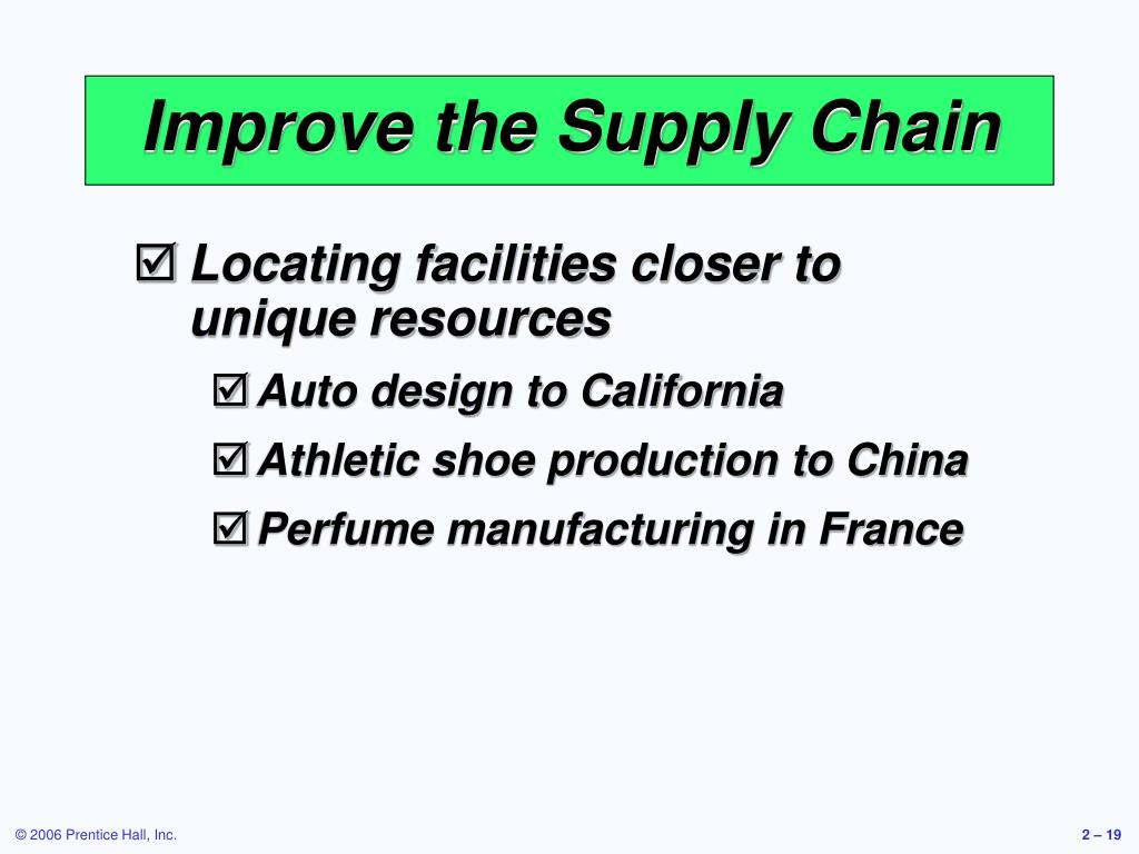 Improve the Supply Chain