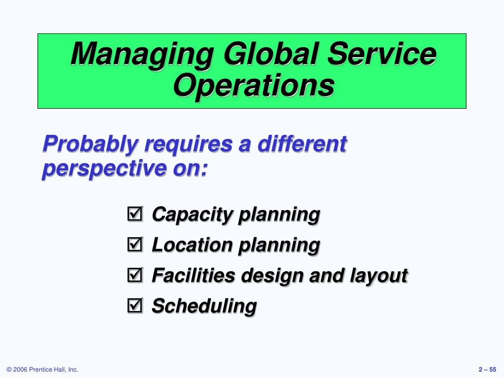 Managing Global Service Operations