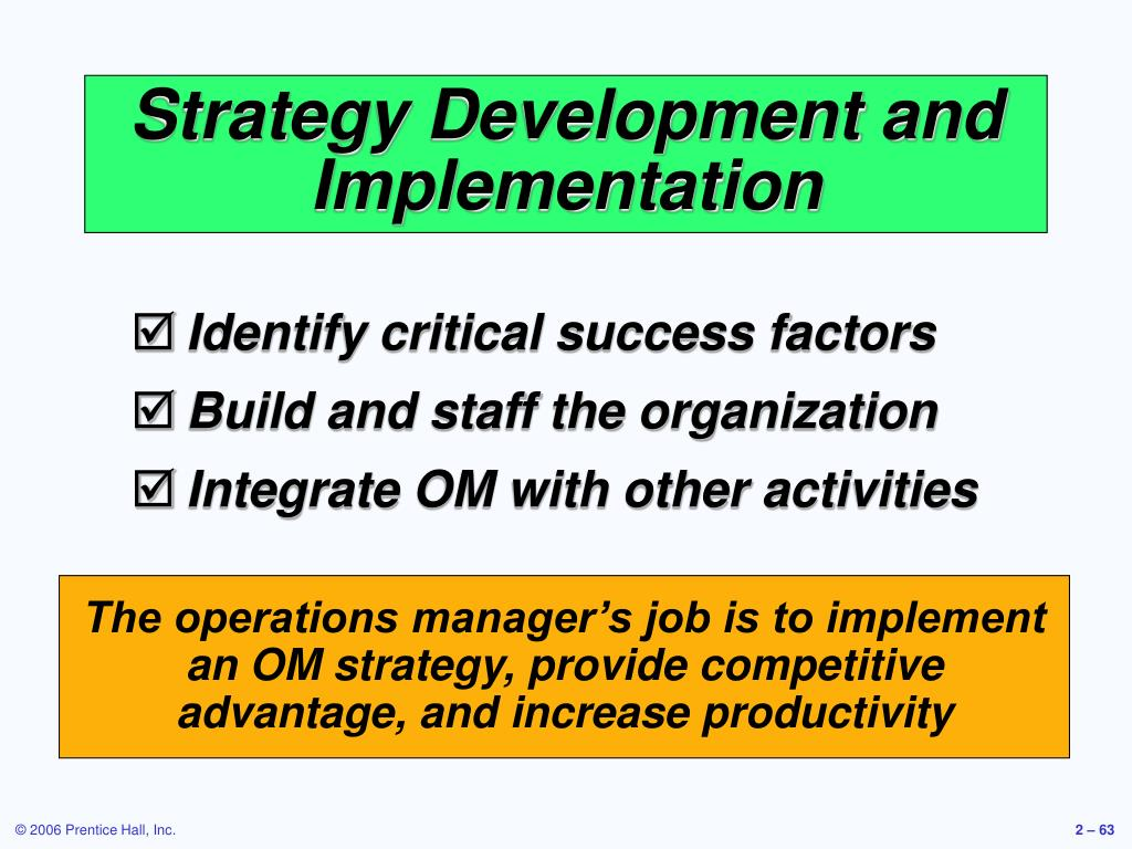 Strategy Development and Implementation