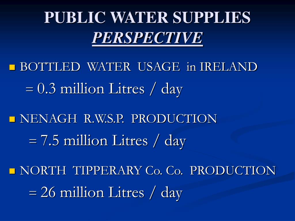 PUBLIC WATER SUPPLIES