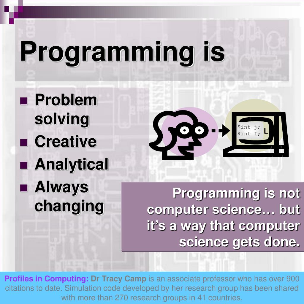 Programming is