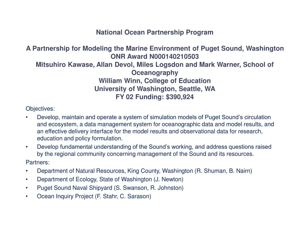 National Ocean Partnership Program