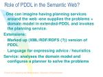 role of pddl in the semantic web