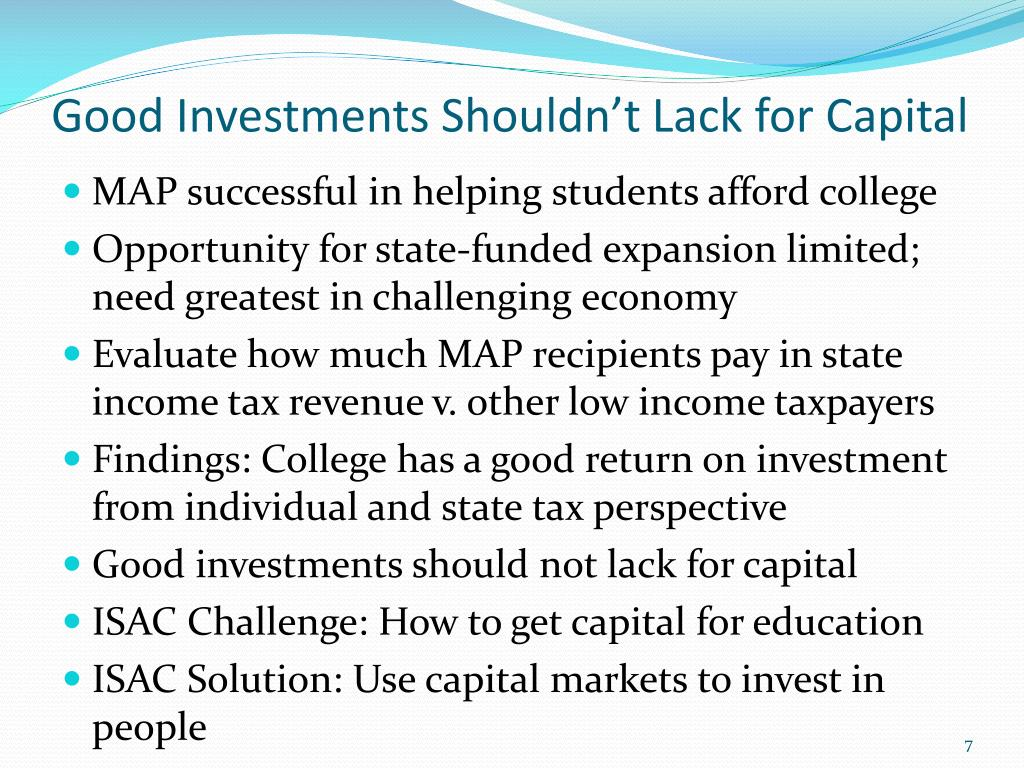 Good Investments Shouldn't Lack for Capital