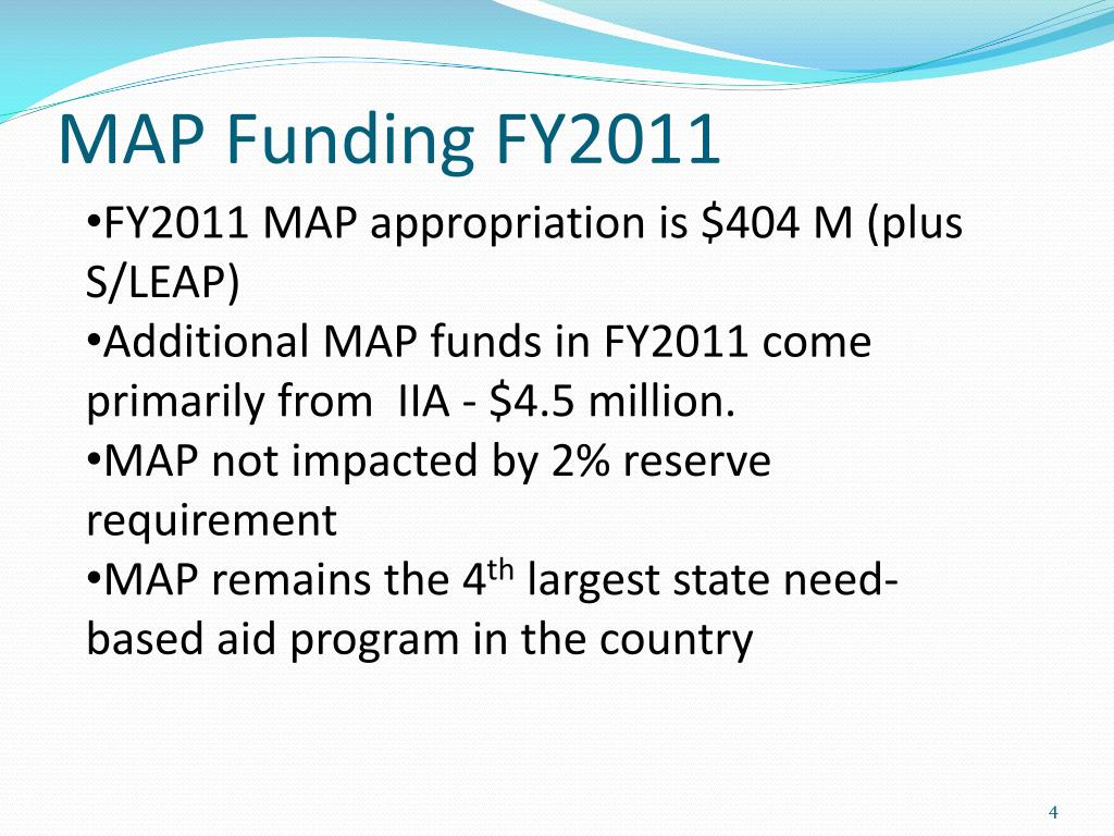 MAP Funding FY2011