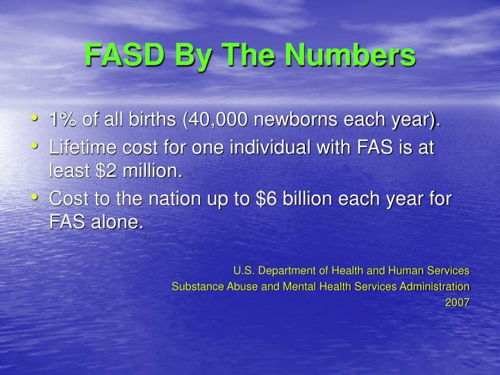 FASD By The Numbers