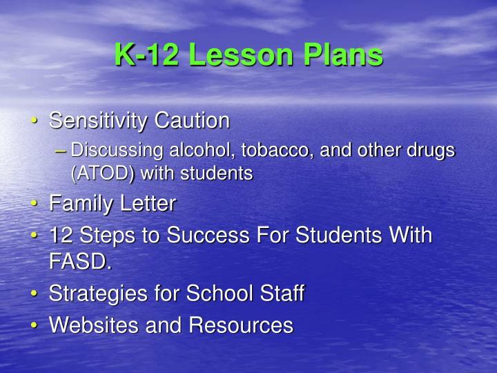 K-12 Lesson Plans