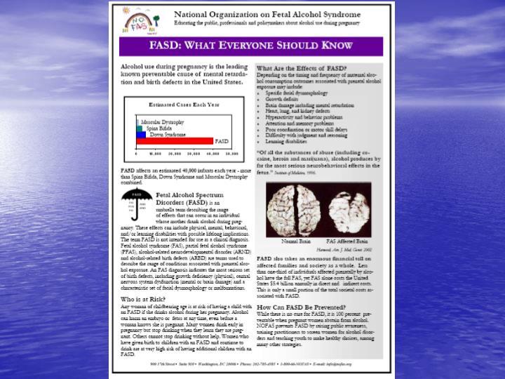 National Organization on Fetal Alcohol Syndrome