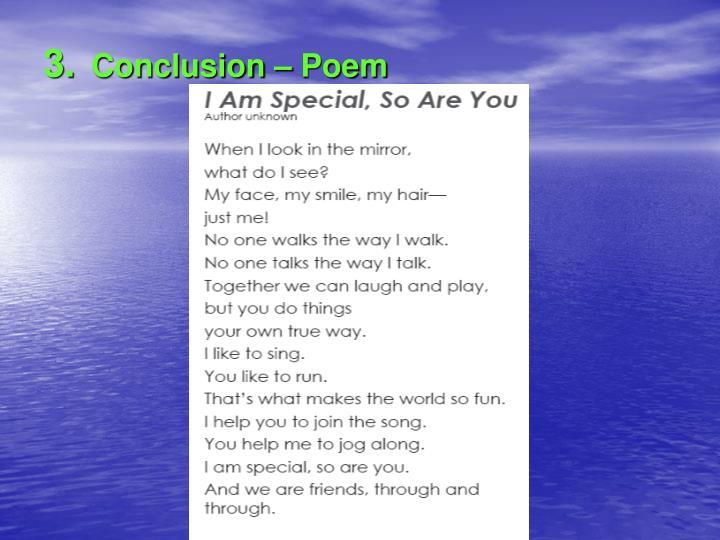Conclusion – Poem
