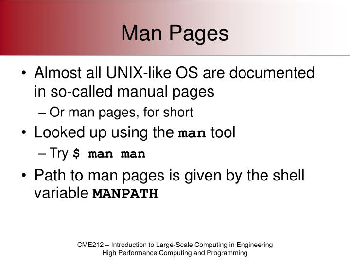 Man pages