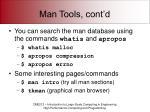 man tools cont d