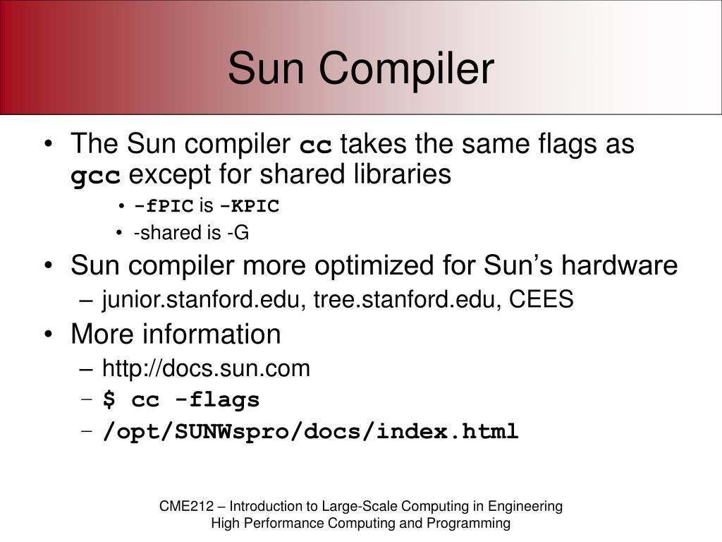 Sun Compiler