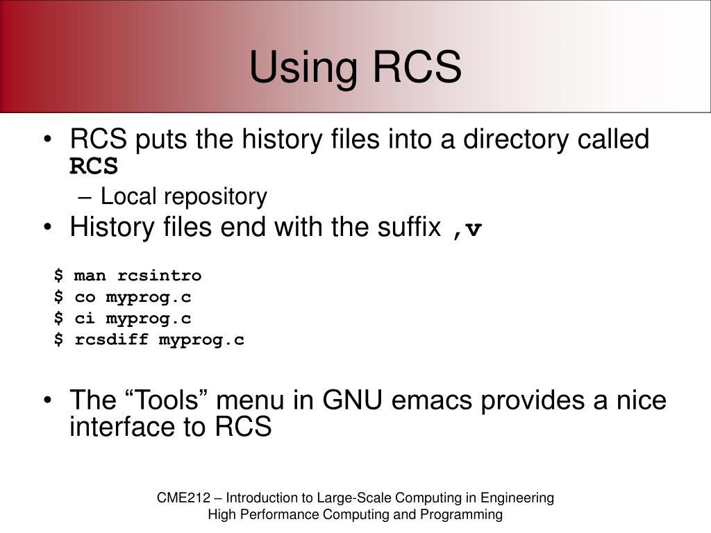 Using RCS