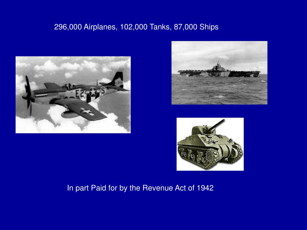 296,000 Airplanes, 102,000 Tanks, 87,000 Ships
