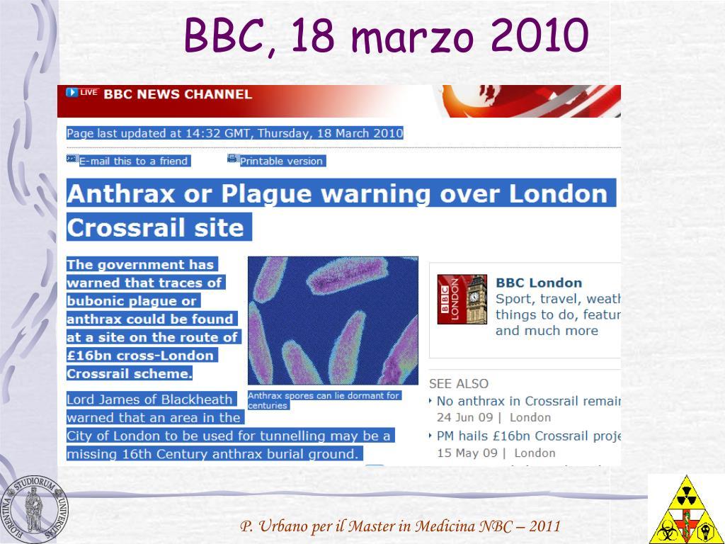 BBC, 18 marzo 2010