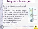 diagnosi sulle carogne