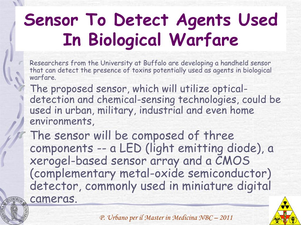 Sensor To Detect Agents Used In Biological Warfare